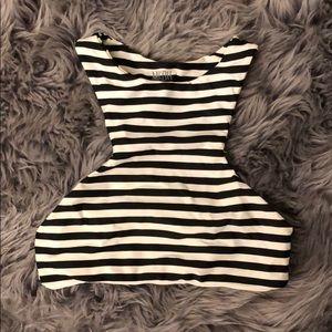 Mikoh Barbados bikini top - SM black/white stripe